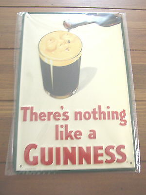 There is Nothing Like a Guinness metal Pub Sign, Thirsty Head