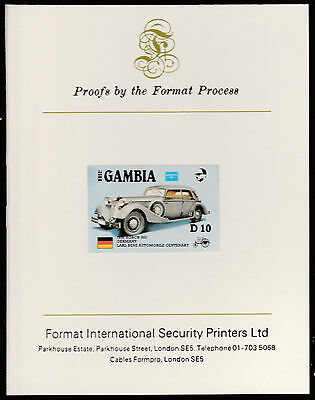 Gambia (533) 1987 Ameripex HORCH imperf on Format International PROOF  CARD