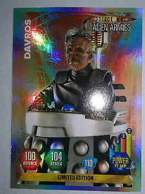 DOCTOR WHO ALIEN ARMIES Ltd Ed DAVROS trading card *MINT*