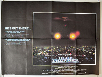 BLUE THUNDER (1983) Original Cinema Quad Film Poster - Roy Scheider, Candy Clark