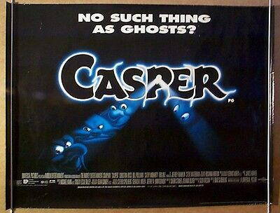 CASPER (1995) Original Cinema Quad Film Poster - Christina Ricci, Bill Pullman