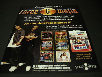 THREE 6 MAFIA No One Deserves It More 2006 PROMO DISPLAY AD mint condition