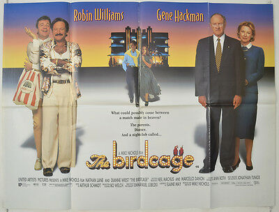 THE BIRDCAGE (1996) Original Quad Movie Poster - Robin Williams,  Gene Hackman