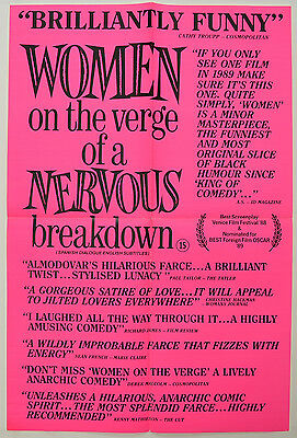 WOMEN ON THE VERGE OF A NERVOUS BREAKDOWN (1988) Double Crown Poster - Almodovar
