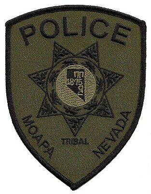 J18 * Subdue Grn Moapa Nevada Paiutes Indian Tribal State Police Swat Patch Fbi