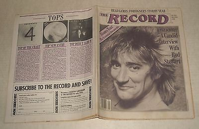 January 1981 The RECORD MUSIC NEWSPAPER ROD STEWART INTERVIEW STONES FOREIGNER