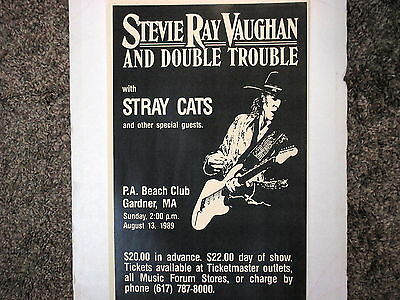 Stevie Ray Vaughan Poster with Stray Cats Gardner, Massachussetts  !