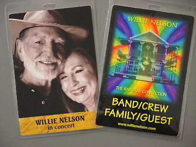 Willie Nelson backstage passes TWO Laminated Rainbow Connection & In Concert!