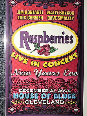 """The Raspberries Concert Poster House of Blues Cleveland 2004 11"""" X 17"""" ORIGINAL!"""