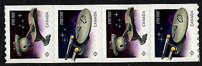 50th Anniversary of STAR TREK Postage Stamps Coil Strip from Canada