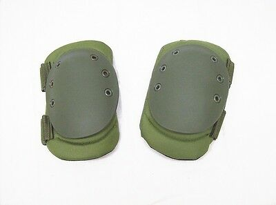 Atlanco Tru-Spec green exterior knee pad set double strap padded tactical OSFA