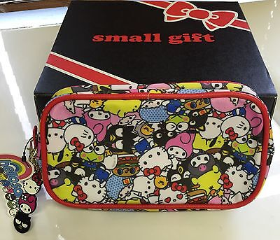 Sanrio Hello Kitty Makeup/Pencil Pouch/Bag & Charm **Loot Crate Exclusive**