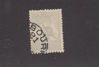 AUSTRALIA # 48a 6d ROO WITH PART CORNER TOWN CANCEL CAT VALUE $20+