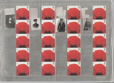 Gb  Gb 2007 Letters From The Front - Smiler Sheet , 20 X 1St Class Stamps