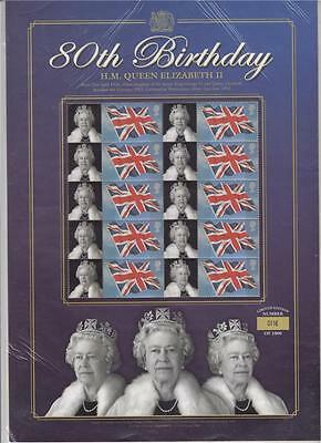 GB BC-081 2006 QUEEN ELIZABETH II 80th BIRTHDAY STAMPS BUSINESS SMILERS SHEET