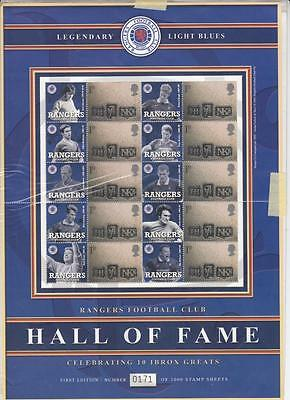 GB  BC-008 - Glasgow Rangers Ibrox Hall of Fame Smilers Stamp Sheet