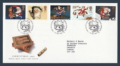 UK England First Day Cover # 1776 - # 1780 - Christmas 1997