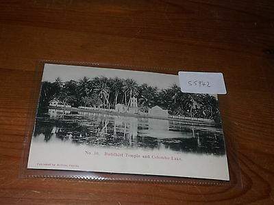 Old CEYLON  postcard our ref #55942 BUDDHIST TEMPLE AND COLOMBO LAKE