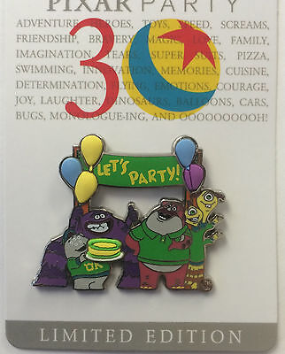 Disney WDW 2016 Pixar Party 30 Years Monsters University Welcome LE Pin