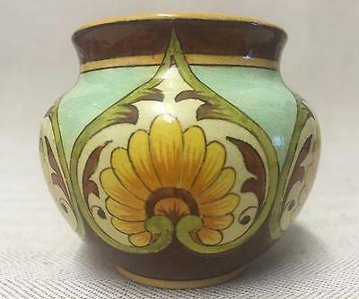 Superb Royal Doulton Faience Miniature Jardinaire By M Fox, Dated 1885