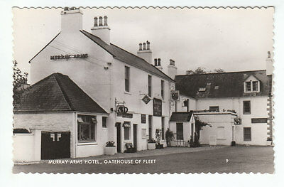 Murray Arms Hotel Gatehouse Of Fleet Kirkcudbright Real Photograph Old Postcard