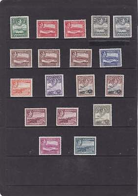 Antigua 1938 Set Complete With All Shades Sg.98-109 Mlh