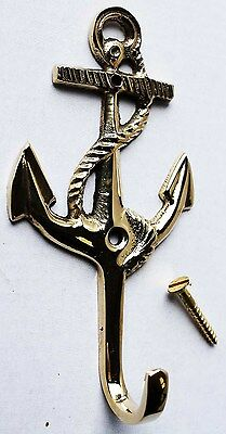 Nautical Solid Brass Anchor Coat key Hook Holder 6724
