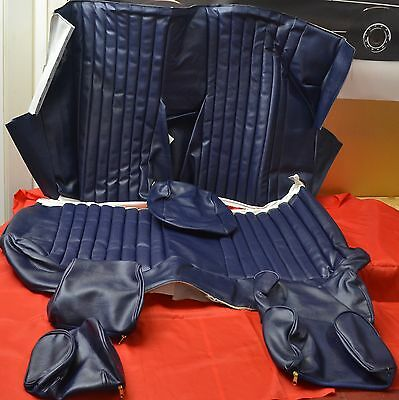 Covers for Back seat Mercedes SLC 107 blue TOP Quality