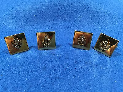 Lot of 2 Pairs of 1970's Vintage US Navy USN Cuff Links