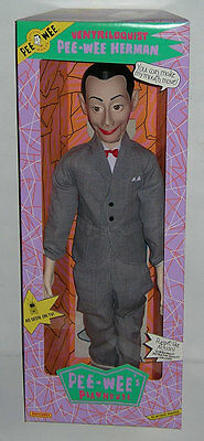 """FACTORY FRESH Pee Wee Herman 26"""" VENTRILOQUIST DOLL Figure RARE From Case MIB"""