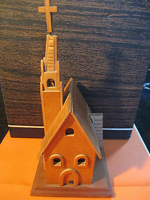 Vintage Wood Church Amazing Grace Collector Music Box