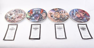 "Hamilton Collection 4 Plates. Star Wars ""Heroes and Villains"" Collection (V3574)"