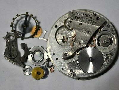 Waltham,mass Pocket Watch Movement For Parts/repairs #w23