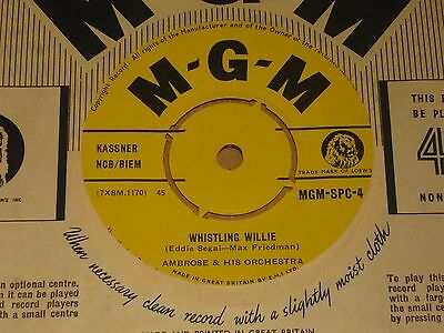 """Ambrose """"Whistling Willie"""" MGM Export 45"""