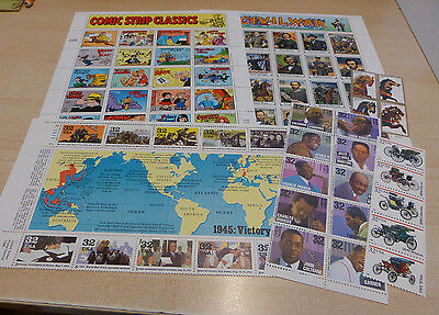 USPS  1995 complete  year set  without book 110 stamps