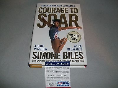 """OLYMPICS SIMONE BILES signed autographed """"COURAGE TO SOAR"""" HC BOOK PSA/DNA COA!"""