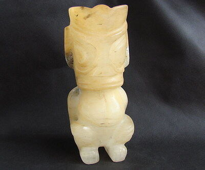 CHINESE CRYSTAL SANXINGDUI CULTURE DOUBLE FACED PERSON--5600g