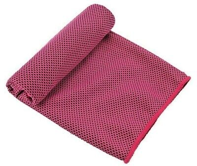 Cooling towel. Pink. D/b Layer. Velvet.Bamboo fibre. COLD Neck Cooler. ALL Ages!