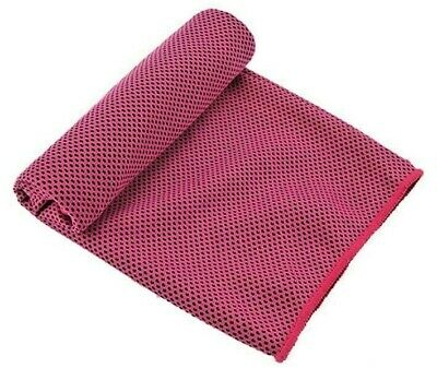 New Instant Cooling Towel.PINK COLOUR Ice Cold Sports Cool GYM USERS LOVE THEM