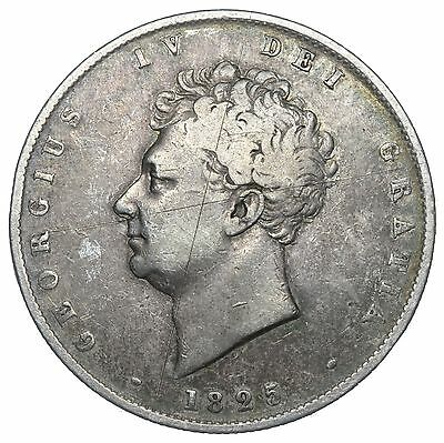 1825 Halfcrown - George Iv British Silver Coin