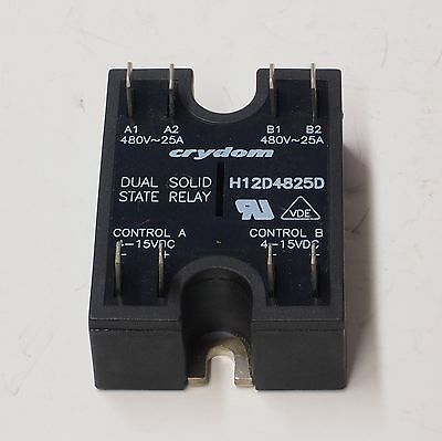 NOS Crydom H12D4825D 25 Amp 480 Volt Dual Solid State Relay