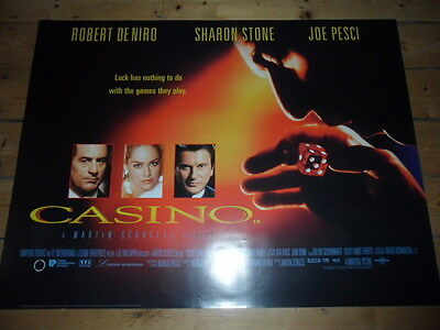 CASINO Original UK Quad Cinema Poster MINT - ROBERT DeNIRO Martin Sorcsese 1995