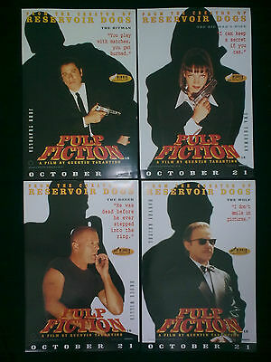 PULP FICTION - Set of 4 x Original 1994 UK Promotional Posters QUENTIN TARANTINO