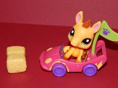 Littlest pet/shop #2588 Esel donkey pony lps littles pferd burro gelb yellow car