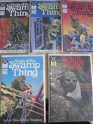 ROOTS of the SWAMP THING :COMPLETE, CLASSIC 5 ( 1,2,3,4,5 ) ISSUE SERIES. DC1986