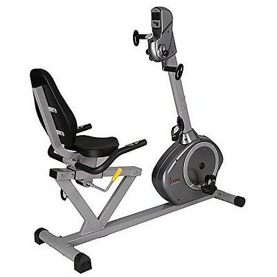 Sunny Health and Fitness Recumbent Bike with Arm Exerciser NEW