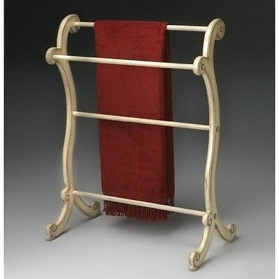 Butler 1934134 Clothes & Blanket Rack in Wood w Cream Finish NEW