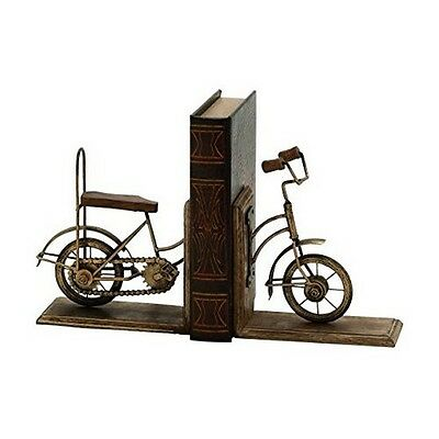 UMA Enterprises 24211 UMA Metal Wood Cycle Bookend Pair 7 In W- 8 In H NEW