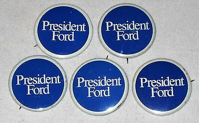 Lot Of 5 Vintage President Ford Campaign Pins - 1976
