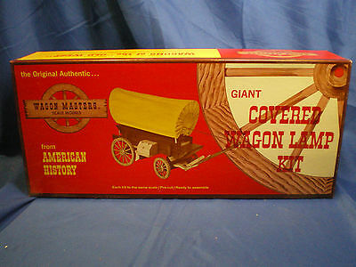 """Covered Wagon Lamp kit # 303-500 by """"Wagon masters""""1960's retro wooden kit"""